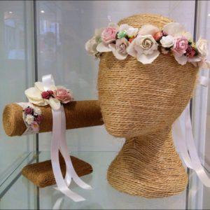 Corona floral niña comunion