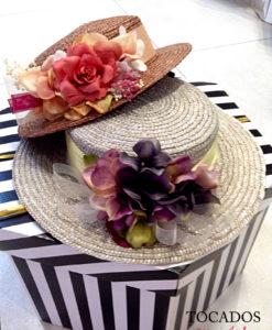 Canotier paja detalle floral