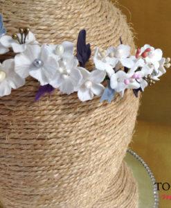 Corona novia porcelana fria NILA
