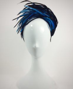 Diadema plumas de oca en azules ALEXANDRA