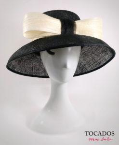 Sombrero negro con lazo ROCIO
