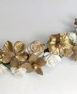 Pieza Novia en Porcelana Fria y Flores Papel NELA