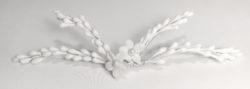 Tocado Novia con pistilos y flor porcelana NESA
