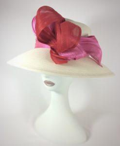 Sombrero en rojo y rosa SIA