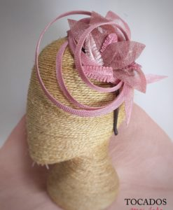Diadema PINK ROSE LACE