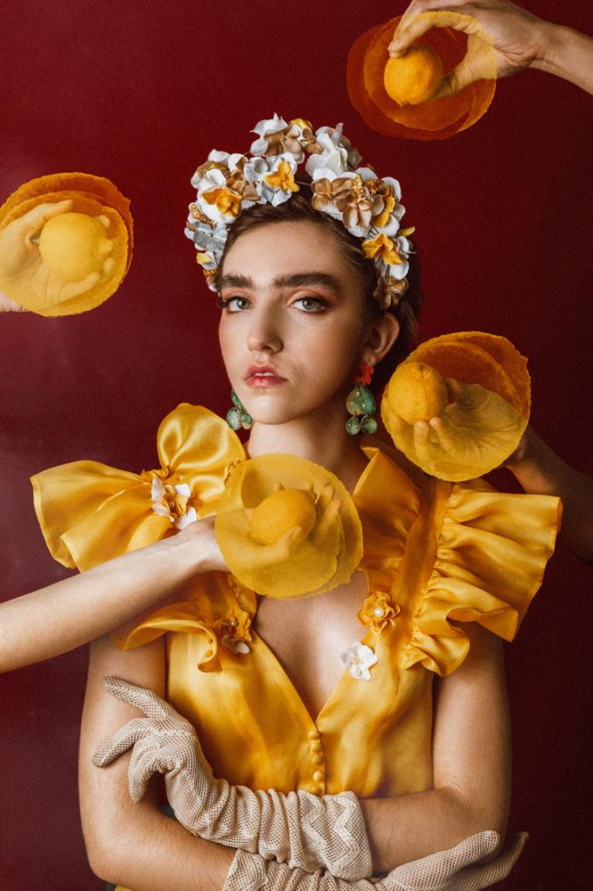 , Una sesión de fotos inspirada en Frida Kahlo