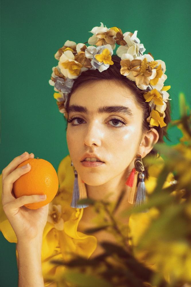 Diadema inspirada en Frida Kahlo