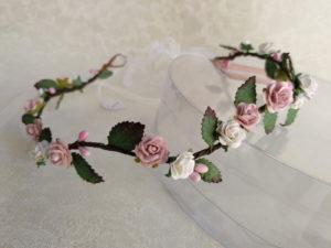 Corona floral rosa NATURA