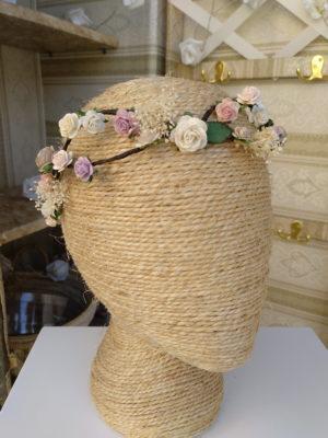 Corona trenzada floral NAURA