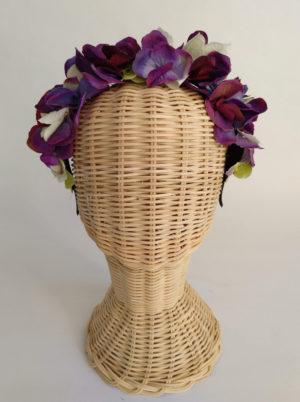Diadema floral morados ADELE