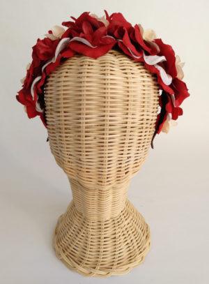 Diadema floral rojos ADELE