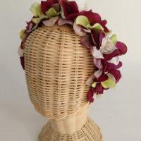 Diadema floral vino ADELE