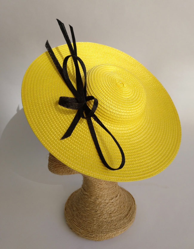 Pamela en paja fina amarillo y negro ATENEA SX