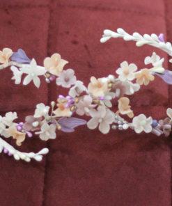Corona novia malva porcelana