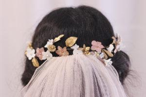 Corona Porcelana rosa dorado VENUS