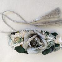 Cinturon de flores azul verde ADAN