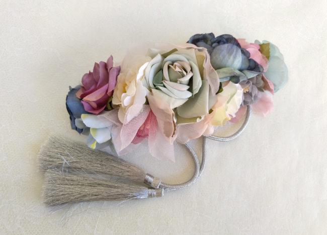 Cinturon de flores malvas ADAN