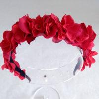 Diadema floral rojo ADELE