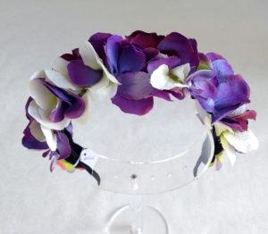 Diadema floral violestas ADELE