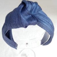 Diadema seda azul NILO