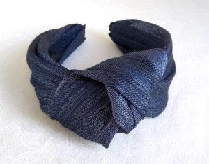 Diadema seda azul NILO 2